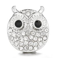Wholesale metal snap button owl resale online - 3Pcs OWL Snap Metal ANIMAL Snap Button For Charms Bracelet Fit DIY mm Jewelry For Women SB041
