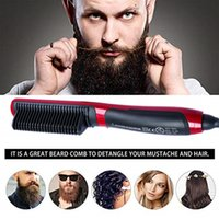 Wholesale beard comb straightener for sale - Group buy 2019 Multifunctional Quick Beard Straightener Comb Hair Curler Straightening Permed Clip Comb Styler Electric Hair Tool for Men
