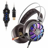 sanal oyun toptan satış-G106S USB Sanal 7.1 Oyun Kulaklığı kablolu Oyun Kulaklığı Kablolu Kulaklık Subwoofer Titreşimli RGB Işık Kulaklıklar Mic ile kulaklık