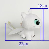 Wholesale best lighted toys resale online - New Toy Light Fury Plush Toy How to Train Your Dragon Soft Doll Plush Toy For Kids Christmas Halloween Best Gifts x22cm
