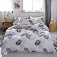 набор постельных принадлежностей оптовых-MENGZIQIAN Новый комплект постельного белья LEAF, стиль INS, мода высокого качества, несколько размеров, одеяло, простыня, наволочка 3шт 4шт