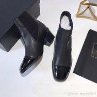 Wholesale uniform shoes resale online - 2019 new autumn and winter fashion luxury designer women s shoes leather lace short knight uniforms fashion ankle boots cx190803