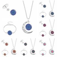 Wholesale wood pendants china resale online - Indian Mandala Flower Of Life necklace Bracelet stud Earrings For Women Buddhism Meditation Pendant Charm chains Fashion Jewelry Set