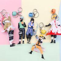 Wholesale ring style japan for sale - Group buy Japan Anime Figures Key Ring Naruto Toy Sasuke Kakashi Keys Chain Creative Pendant Buckle Five Styles Gifts zl O1