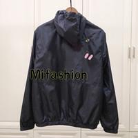 Wholesale anti uv jacket online - 19ss Newest Europe Paris Kaws Cooperate Hooded Jacket Street Skateboard Embroidery Bee Anti Uv Coat Thin Windproof Jacket