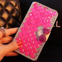 bling stil brieftaschen großhandel-Luxus brieftasche stil flip bling leder abdeckung für samsung galaxy a6 a7 a8 a9 a710 a750 a530 2017 2018 stand telefon case card slot