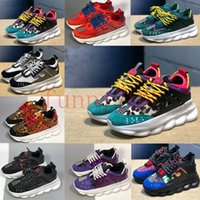 Wholesale quality flats shoes for sale - 2019 best quality Designer Chain Reaction increase wonderful Sneakers couple Mens Womens Casual Brand Shoes chaussures de luxe