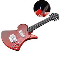 tocha de fogo portátil venda por atacado-Cigarette Isqueiros 3 Cor fumadores personalidade criativa Guitarra Forma Lighter Jet chama da tocha Colecionadores portáteis produtos quentes