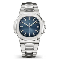 ingrosso luxury watch-Orologi di lusso Top Nautilus gli uomini della vigilanza automatica 5711 Argento Blu Cinturino Acciaio Mens meccanico Orologio da polso di Lusso Data Chrono