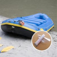 reparación de inflables al por mayor-PVC Repair Glue + Patch Adecuado para el anillo de natación Colchón inflable Bote de reparación Barco inflable Kayak Pegamento especial