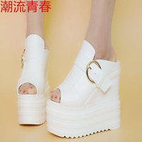 Wholesale 14cm wedges for sale - Group buy Summer Fashion Women lady s slippers Wedges Platform High Heel cm Ladies Casual Comfortable slippers size