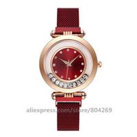 ingrosso orologio da orologio al quarzo-Donne di lusso all'ingrosso Hot Quicksand Bead Orologi Ladies Ladies Watch No Logo Alloy Quartz Wristwatches