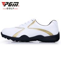 mens chaussures imperméables vente achat en gros de-PGM authentique mise à niveau hot vente hommes de chaussures de golf section de loisirs hommes ongles fixes chaussures de sport garçons imperméable et respirant