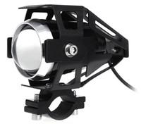 ingrosso fari universali moto u5-Il faro libero del motociclo LED di trasporto ad alta potenza 125W impermeabilizza 3000LM U5 LED della motocicletta che guida la lampada della luce della testa del punto della nebbia Trasporto libero