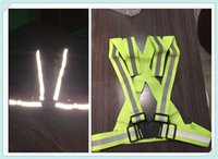 Wholesale safety reflective vest for running resale online - Car motorcycle night safety running riding reflective vest jacket for Kia cee d Rondo Kue Kee KV7 VG Soulster