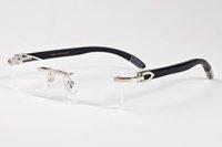 роговые линзы оптовых-Оптово-мужской дизайнер солнцезащитного очки дерева натуральной мода очки без оправы metalbuffalo роговых солнцезащитных очков черных розовых линз золота серебра óculos