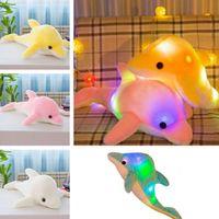 Wholesale foam bedding online - Fashion Luminescent Pillow Marine Animal Dolphin Doll Toy short Plush Plillows Valentine s Day gift Bedding plillows T7I5039