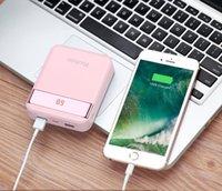 usb pil banka ücretli telefon toptan satış-10000 mAh Mini kapak Mobil Güç Bankası kılıfları 2 USB 2A yoobao Telefon Pil Şarj powerbank batterie externe taşınabilir iphone x şarj vaka