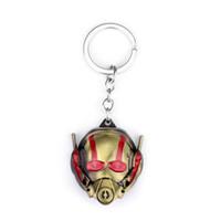 pingentes máscara venda por atacado-Marvel Comics Super Herói Série Chaveiro Moda 3D Formiga Máscara Chaveiro para Chaveiro Chaveiro Llavero Pingente Chaveiro Titular Chave