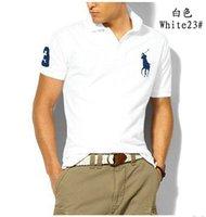 erkekler tasarım yaka gömlekleri toptan satış-2019 yazında, yeni İtalyan tasarımcı işlemeli gömlek yaka marka POLO gömlek erkek kısa kollu T-shirt Paul moda
