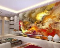 Wholesale chinese restaurant decor for sale - Group buy Modern Abstract Art Wallpaper D Colorful Clouds Photo Mural Wall Paintings Gallery Restaurant Cafe KTV Bar Creative Home Decor