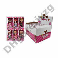 caixa de bonecas barbies venda por atacado-5.5 Polegada Com Aroma Frutado PVC Kawaii Crianças Barbie Brinquedos Anime Figuras de Ação Realista Reborn Bonecas Presente Para Meninas 6 Estilos 24 pçs / caixa