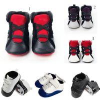 zapatos antideslizantes infantiles al por mayor-2019 6 colores Baby kids letter First Walkers Infants soft soft Zapatos antideslizantes Winter Warm Toddler shoes C1554