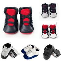 bebek çocuk yumuşak ayakkabıları toptan satış-2019 6 Renkler Bebek çocuklar mektup Ilk Yürüyüşe Bebekler yumuşak alt kaymaz Ayakkabı Kış Sıcak Toddler ayakkabı C1554