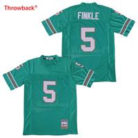 xxl películas gratis al por mayor-5 Ray Finkle The Ace Ventura Jim Carrey Teal verde Versión de película camisetas de fútbol cosidas Envío Gratis