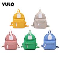 простой холст рюкзак оптовых-YULO мода простые школьные сумки для девочек-подростков случайных женщин рюкзаки холст сумка рюкзаки рюкзаки студентов школьные сумки