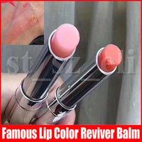 brilho batom venda por atacado-Famoso Lip Makeup Lip Brilho colorido cores Lip Balm Reviver lábios batom Cosméticos com caixa 2 cores