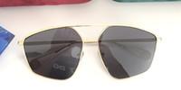 солнцезащитные очки солнцезащитные очки оптовых-Новые роскошные дизайнерские солнцезащитные очки для мужчин и женщин 0437 Металлический каркас Специально разработанные аутентичные солнцезащитные очки UV400 Солнцезащитные очки с чехлом