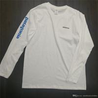 moda casual hombres s camiseta al por mayor-Primavera Nueva Patagonia Letras Imprimir camiseta para hombres Tops de manga larga O-cuello Moda Casual