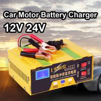 li iphone venda por atacado-12 V 24 V Inteligente Carregador de Bateria Do Motor Do Carro de 12 Volts Li-ion de Lítio Batterie Inteligente Carga de Carga Automática 8A 10A 100AH