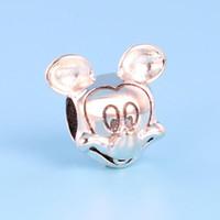 letras del alfabeto de bronce al por mayor-NUEVO clásico de alta calidad 925 Sterling Silver Charm Set Caja original para accesorios de joyería Pandora Pulsera Beads Charms