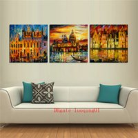 Wholesale building modern art painting for sale - Group buy Building Lake P Canvas Pieces Home Decor HD Printed Modern Art Painting on Canvas Unframed Framed