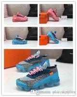 calcetines voladores al por mayor-Diseñadores fly line 2018 zapatillas de deporte para niños flair Cushion triple black Children Run Utility sock Zapatillas deportivas Chaussures zapatillas de deporte 28-35