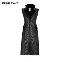 ingrosso lungo cappotto nero sleeveless-PUNK RAVE Men's Punk Style Nero Vintage Classic Party senza maniche Steampunk Pattern Long Vest Coat Gothic Jacket