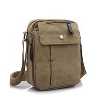 sacos de lona para homens venda por atacado-Bolsa de Ombro dos homens de Lona leve Para 7.9 'Ipad Casual Crossbody Bag mensageiro À Prova D' Água pacote sling bag para homens