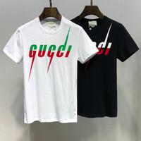 t-shirt marques célèbres achat en gros de-Hot 2019 Bees Logo GC Marque Hommes Femmes T-Shirt GG005 Italie célèbre designer Mode Été À Manches Courtes Tshirt Tigre Serpent Col Rond