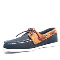 ingrosso barca a ponte-Mens casuali Genuine Leather Docksides sdraio Lace Up Moccain barca fannulloni pattini Guida Moda mocassini Inghilterra Appartamenti 6 # 21 / 20D50