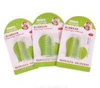 massage-sets groihandel-Baby-Finger-Zahnbürste Kinder Zähne Klare Massage Soft-Silikon-Baby-Gummi-Reinigungsbürste Massage Satz Freies Verschiffen