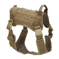 köpekler için koşum yeleği toptan satış-Yüksek Miktar 3 Renk K9 Taktik Eğitim Köpek Koşum Ayarlanabilir Molle 1000D Naylon Su Geçirmez Yelek Köpek Giyim M / L / XL Açık Dişli M85F