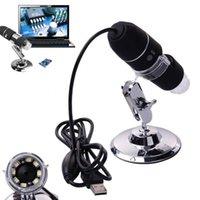 mini microscópio portátil venda por atacado-8x luz LED Mini USB 50X-1000X Ampliador Portátil USB Digital Microscope Camera Endoscópio + Suporte Frete grátis