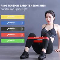 yoga kauçuk şeritleri toptan satış-FDBRO 2019 Pilates Spor Eğitimi Egzersiz Elastik Bantları Yoga Direnci Kauçuk Bantları Kapalı Açık Fitness Ekipmanları 5 Renk / 1 Takım Ücretsiz Gemi
