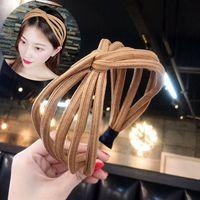 kafa bandı çember kadınları toptan satış-2018 Kadınlar Için Yeni Moda Twisted Knot Kafa Turban Lady Saç Bandı Şapkalar Geniş Kızlar Kafa Hoop Saç Aksesuarları
