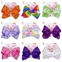Wholesale bow claw resale online - 23 Styles jojo siwa Baby Girls Hairbands Big Bow Rainbow Colorful Headwear Fashion Kid Hair Accessories barrettes