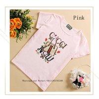 camiseta del tamaño del niño al por mayor-Chica Ropa de verano Camiseta de manga corta T camiseta linda de tamaño mediano y para niños pequeños Edición coreana Chaqueta Marea