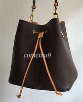 klassische design-handtasche großhandel-2019 damenmode Eimer Tasche Hochwertigem Echtem Leder Umhängetasche Klassisches Design Umhängetaschen Dame Handtaschen mehr farben