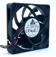 inversor pwm venda por atacado-Nova marca Delta AFB0712VHB 70mm 70 * 70 DC12V 0.55A 45CFM 5200 RPM PWM com sensor de controle de temperatura do computador cpu servidor inversor ventilador de refrigeração